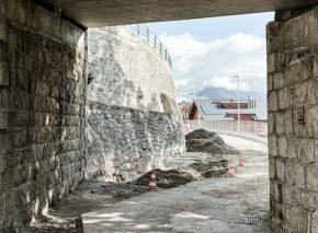 Village Bridge in Leysin – Start of the underpinning works