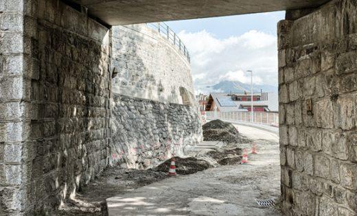 Pont du Village à Leysin – début des travaux de reprise en sous-œuvre
