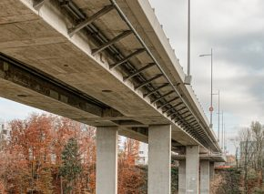Brücke über den Lavapesson – Bauwerks Abnahme