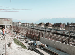 Plateforme 10 – Last concreting at the Western Link