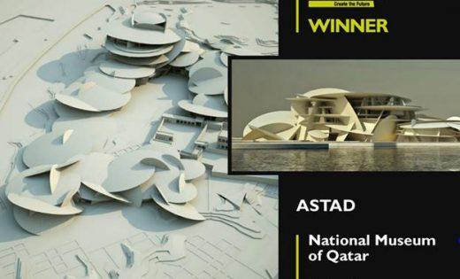 La façade du Musée national du Qatar remporte le prix LEAF