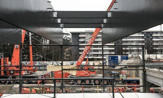 Montage Bahnhof Genf – Eaux-Vives CEVA