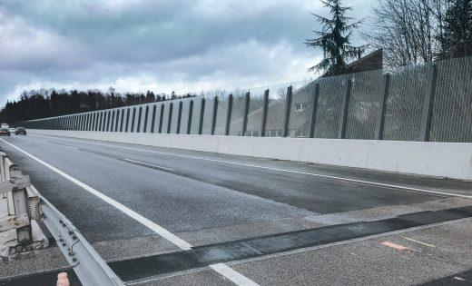 Paroi antibruit – Ponts sur la Paudèze – OFROU