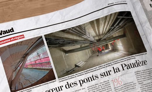 Article from the 24Heures newspaper on the bridges over the Paudèze