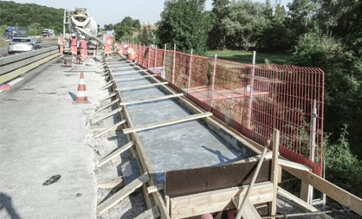 Rehabilitation works on highway bridges in France (Lorraine)
