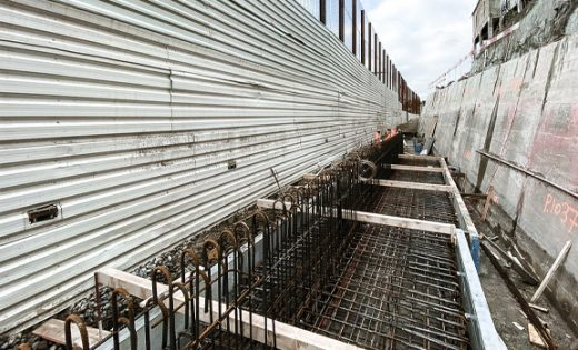Beginning of the reinforced concrete works for the Western Link – Plateforme 10